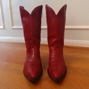 Vintage Code West Red Western Boots